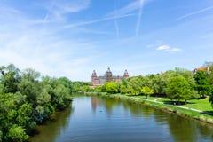 Slott Aschaffenburg Johannisburg, Bayern Tyskland arkivbilder