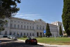 Slott av Ajuda i Lissabon, Portugal Arkivbilder