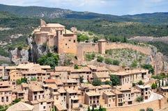 Slott av Alquezar Royaltyfri Fotografi