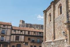 Slott av Atienza, Guadalajara Arkivfoto
