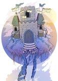 Slott av böcker arkivbild