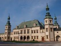 Slott av biskopar i Kielce, Polen arkivbild