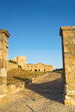 Slott av Bovino Puglia italy royaltyfri fotografi