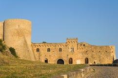 Slott av Bovino Puglia italy royaltyfria foton