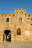 Slott av Bovino Puglia italy royaltyfri foto