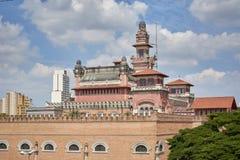 Slott av branscher som bygger i Sao Paulo fotografering för bildbyråer