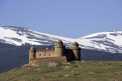 Slott av Calahorra i landskapet av Granada, Andalusia Royaltyfria Foton