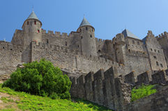 Slott av Carcassonne, Frankrike. Royaltyfri Foto