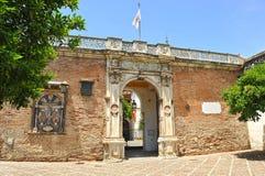 Slott av Casa de Pilatos, Seville, Spanien arkivbild