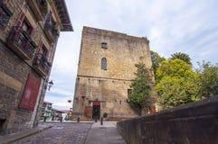 Slott av Charles V i Hondarribia i Pais Vasco, Spian Fotografering för Bildbyråer
