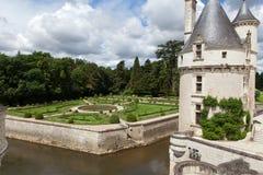 Slott av Chenonceau royaltyfri bild