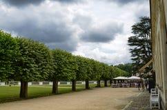Slott av Chenonceau, Loire region, Frankrike Juni 27, 2017 kort royaltyfri bild