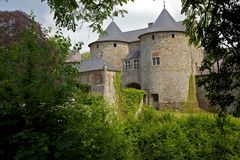 Slott av Corroy-le-Château Royaltyfri Foto