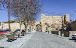Slott av Cuenca, Spanien Arkivfoton