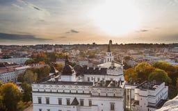 Slott av de storslagna hertigarna av Litauen Royaltyfria Bilder