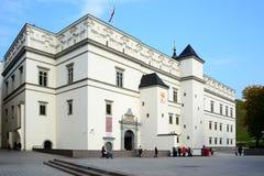 Slott av de storslagna hertigarna av Litauen i den Vilnius staden Arkivfoton