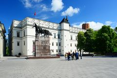 Slott av de storslagna hertigarna av Litauen i den Vilnius staden Arkivbilder
