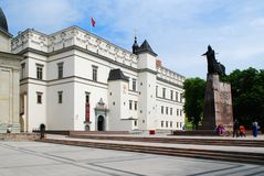 Slott av de storslagna hertigarna av Litauen i Vilnius Arkivbild