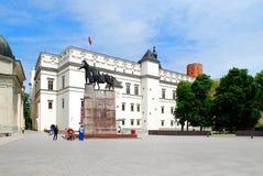 Slott av de storslagna hertigarna av Litauen i Vilnius Royaltyfri Fotografi