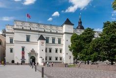Slott av de storslagna hertigarna av Litauen vilnius Fotografering för Bildbyråer