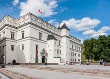 Slott av de storslagna hertigarna av Litauen vilnius Arkivbilder