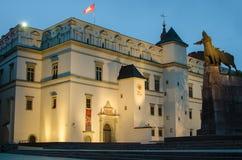 Slott av de storslagna hertigarna i Vilnius, Litauen Royaltyfria Foton