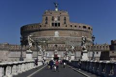 Slott av den heliga ängeln, Rome, Europa Fotografering för Bildbyråer