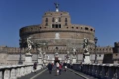 Slott av den heliga ängeln, Rome, Europa Royaltyfria Foton