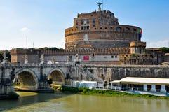 Slott av den heliga ängeln. Rome.Italy. Royaltyfria Bilder