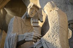 Slott av den heliga familjen/Sagrada Familia Fotografering för Bildbyråer