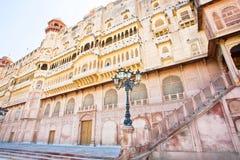 Slott av den indiska maharajaen i Bikaner Arkivbild
