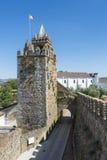 Slott av den Montemor nollan Novo, Alentejo, Portugal Arkivbild