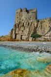 Slott av den Roseto capoen Spulico fotografering för bildbyråer