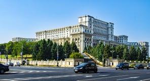 Slott av den rumänska parlamentet Royaltyfri Bild