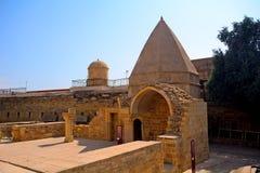 Slott av den Shirvan schah, Baku, Azerbajdzjan Arkivbilder