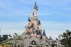 Slott av den sova skönheten, i Disneyland Paris Arkivbilder