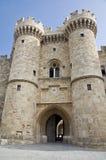 Slott av den storslagna förlagen av riddarna av Rhodes Arkivfoto