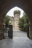 Slott av den storslagna förlagen av riddarna av Rhodes Royaltyfri Foto