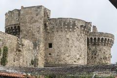 Slott av den storslagna förlagen av riddarna av Rhodes Royaltyfria Foton