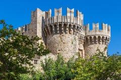 Slott av den storslagna förlagen av riddarna av Rhodes Arkivbild