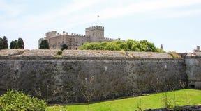 Slott av den storslagna förlagen av riddarna av Rhodes, Grekland Arkivbilder