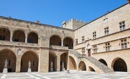 Slott av den storslagna förlagen av riddarna av Rhodes, Grekland Fotografering för Bildbyråer