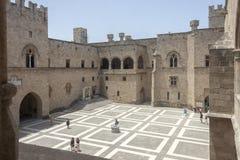 Slott av den storslagna förlagen, Rhodes Royaltyfria Foton