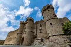 Slott av den storslagna förlagen, Rhodes, Grekland Royaltyfri Foto