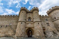 Slott av den storslagna förlagen, Rhodes, Grekland Royaltyfri Fotografi