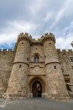 Slott av den storslagna förlagen, Rhodes, Grekland Arkivbild
