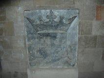 Slott av den storslagna förlagen av riddarna av Rhodes Greece royaltyfri bild