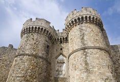 Slott av den storslagna förlagen av riddarna av Rhodes Royaltyfria Bilder