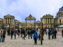 Slott av den Versailles ingångsporten Arkivfoto