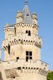 Slott av det Olite tornet - Spanien Arkivfoton